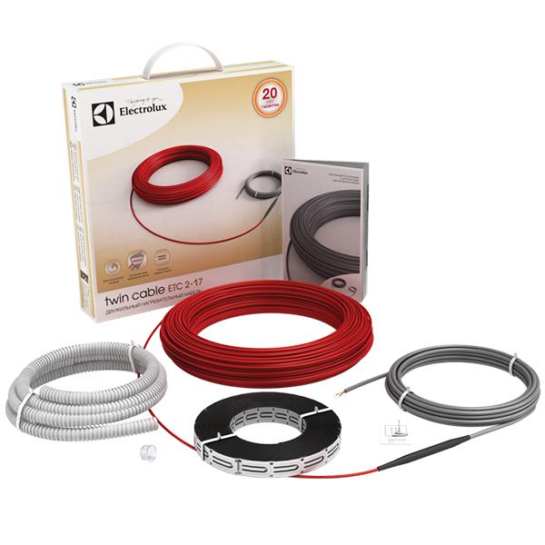 Теплый пол и греющий кабель Кабельный теплый пол: Нагревательный кабель   ETC 2-17-100