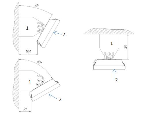 Кронштейны поворотные Zilon МКО-1 для ИК-обогревателей IR-0,8S, IR-1,0S