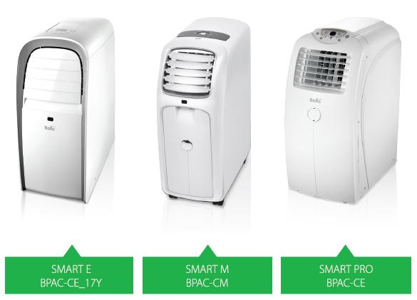 Мобильные кондиционеры Ballu Smart - модельный ряд